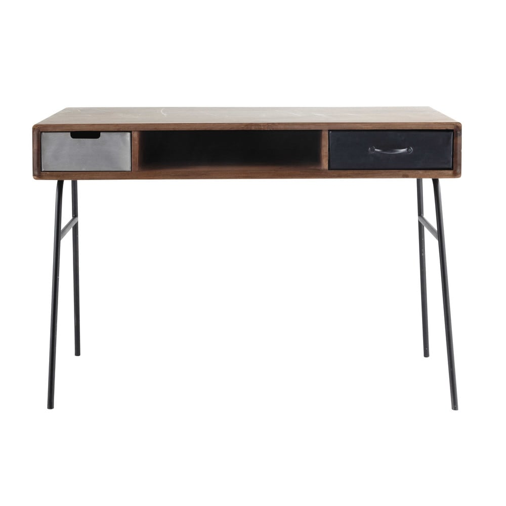 vintage ahşap ofis masası 115cm braggo furniture