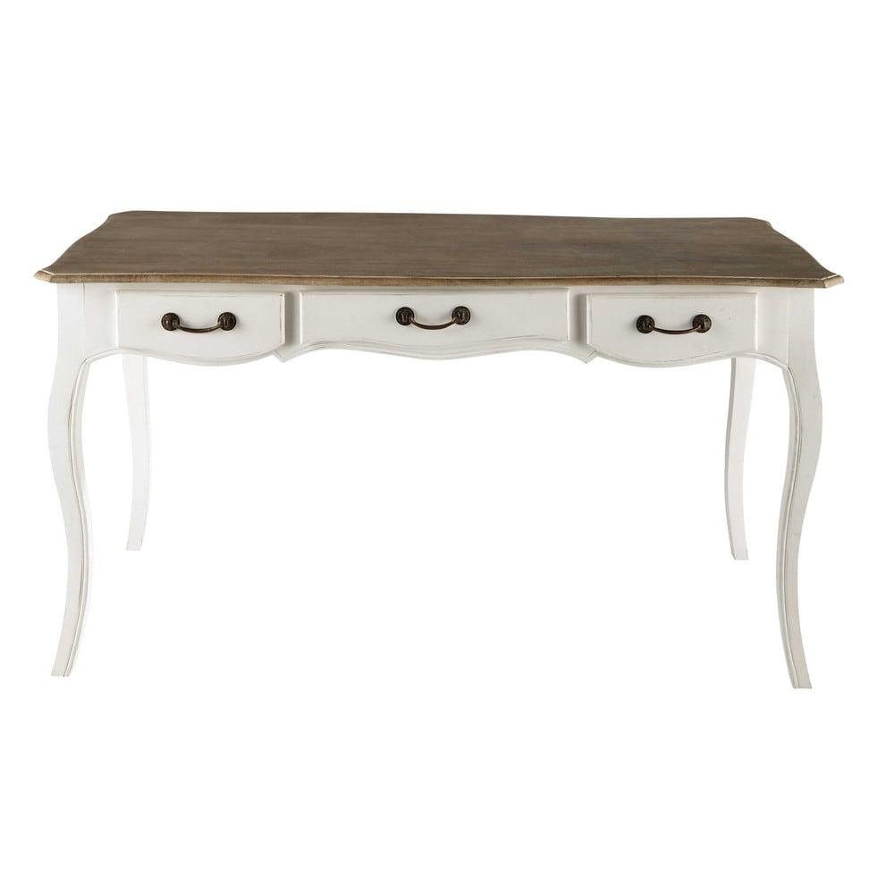 retro ahşap beyaz ofis masası 145 cm braggo furniture